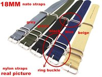 Wholesale Ring buckle High quality MM Nylon Watch band NATO waterproof watch strap fashion wach band colors