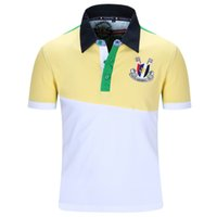 brand golf shirt - 2016 New Arrive Brand Men Polo Shirt Mens Solid Polo Homme Casual Short Sleeve Sport Golf Tennis Patchwork Cotton Plus Size