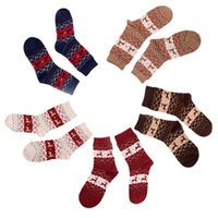 best thermal socks - Brand new socks best socks women thermal winter rabbit wool female thickening towel cotton socks gift sock box