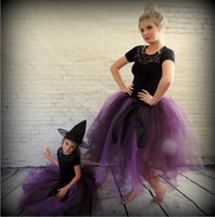 apples red devil - Devil Purple Tutu Skirt Mother Daughter Dresses Ball Gown Tulle Girls Party Dress Cheap Family Clothing Party Dresses Halloween Dress