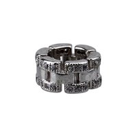 bracelet connectors - 4pc Silver Tone Crystal Spacer Beads Fit European Bracelets A1540