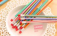 Wholesale Creative Stationery Magic Soft Pencil Flexible Plastic Pencil Easily Bend Pencil Twist Rubber Candy Colour