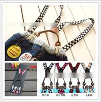 Wholesale 2015 Children Baby Clip Solid Graceful PU Shoulder Belt Kids All match Adjustable Suspender Brace Boys Girls Trousers Folder K3995