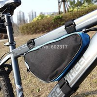 Wholesale Colors Waterproof Roswheel L Outdoor Triangle Cycling Bicycle Front Tube Frame Bag Mountain Bike Pouch