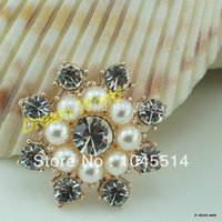Cheap 2.5cm rhinestone embellishments buttons bow for ribbon hair clips decoration(20 pcs lot)