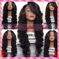human hair wigs for black women - Loose Wave Brazilian Human Hair Lace Front Full Lace Wig With Bangs Glueless Wavy Human Hair Wigs For Black Women with Baby Hair