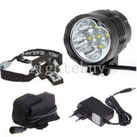 Wholesale x Cree XM L T6 T6 Lumens In LED Modes Bike Light Bicycle Front Lamp Headlight Headlamp V Battery Pack charger