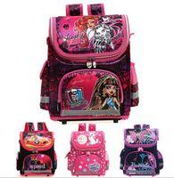 Wholesale Kids school Backpack monster high butterfly winx EVA FOLDED orthopedic Children School Bags for boys and Girls mochila infantil