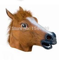 Wholesale Horse Unicorn Animal Head Mask Creepy Halloween Costume Theater Prop Novelty New