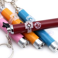 Wholesale Funny Pet Toys Cat Dog LED Laser Pointer Light Pen With Bright Mouse Animation