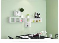 shoes rack shelf - Modern Home Carving Wall Decor Floating Wood plastic Wall Shelves x7 inch White Quare Wall Shelf