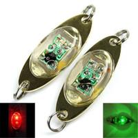 led underwater fishing light - LED Fishing Hooks LED Deep Drop Underwater Eye Shape Fishing Squid Fish Lure Light Flashing Lamp