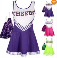 high school uniforms - Lovely High School MUSICAL Cheerleader GIRL UNIFORM Costume Colourful