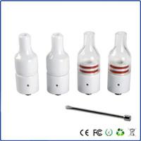 Cheap Wax Ceramic donut Atomizer V2.5 no coil no wick ceramic heating element vaporizer Vape Smoking Pen free shipping