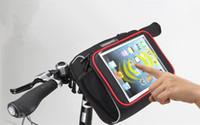 Wholesale hot sale ROSWHEEL Waterproof Cycling Bicycle Folding Bike Front Handlebar Bag Basket Transparent PVC Pouch for iPad mini