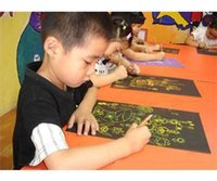 Wholesale ME Brand Sheets K Scratch Colorful Art Paper Painting Paper with Free Drawing Stick EM