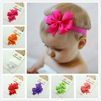 Wholesale Cute Girls Head Pieces Baby M Year old Lovely Baby Headbands Bowknot Flower Rhinestones Button Children Hair Accessories