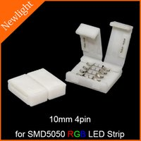 Wholesale free welding LED Strip Connectors mm pin for connecting SMD RGB flexible LED Strip Light without soldering
