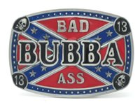 bad alloys - Confederate Flag Bad Ass Bubba Lucky Skull Belt Buckle Rebel