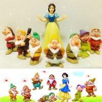 Wholesale 8pcs set Princess Snow white and the Seven Dwarfs PVC Action Figures Dolls Toys