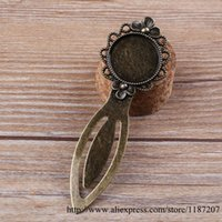antique book ends - DIY Vintage Style Antique Bronze Alloy Fit for mm Cameo Setting Cosmetic Mirror Shaped Bookmark Accessories