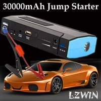 Wholesale Auto Engine Savior mAh Mini Jump Starter V Car Battery Charger Portable Power Bank For Phone Laptop w Emergency Lighting