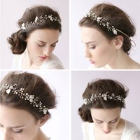Wholesale Fashion Wedding Prom Bridal Jewelry Beads Crystal Headbands Headpieces Hairdress Tiaras For Party Wedding Hair Accessory