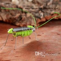 adult science kit - Cute solar grasshopper can snake on sunlight solar powered new year ornaments for kids and student science kits for adults