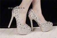Cheap New Arrival prom heels wedding shoes women high heels crystal high heel shoes woman rhinestone platform pumps