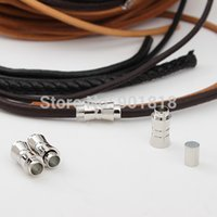 Cheap 10pcs lot Hole 6mm Strong Magnetic Clasps For Round Leather Cord Metal Copper Rhodium For Bracelet Jewelry DIY Findings F1981