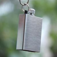 metal match lighter - Metal Match Lighter Waterproof Matches Cigar Match Flint Torch Petrol Permanent Match Striker Lighter With Keychain Set