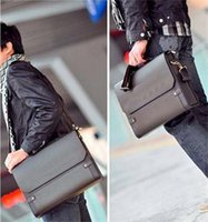 Wholesale 2014 Brand Mens Business Shoulder Bag Leather Briefcase Brown New Fashion Men s Faux Leather Briefcase