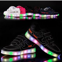 baby girl lamp - 2016 Hot newchildren USB rechargeable lights shoes fashion baby boy shoes children lamp brand shoes Sneakers girls with light N sport shoes