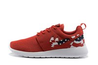 american marble - Drop Shipping Famous Roshe Run Custom Red White Marble American Flag Pride Cheap Women Men s Sports Running Shoes Size