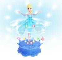 Wholesale 2014 Hot Frozen Princess aisha Induction Flying Fairy Frozen Toys with Light and Music Brinquedos Kids Induction Remote Control Toys