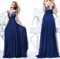 Cheap Reference Images In Stock Dress Best Scoop Chiffon 2015 Sheer Evening Gown