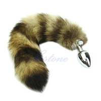 Wholesale Love Faux Raccoon Tail Butt Anal Plug Sexy Romance Sex Funny Adult