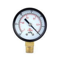 Wholesale 0 inHg bar Mini Dial Air Pressure Gauge Meter Vacuum Manometer Double Scale Pressure Measuring Instruments