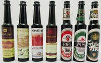 aluminum bottles - 5pcs smoking pipe wine bottle metal pipe tobacco pipe aluminum pipe mix designs