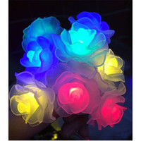 Wholesale New LED Rose Flower Fairy String Lights for Wedding Garde Party Christmas Decoration