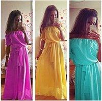Wholesale High Quality Summer party Women Long Dress Plus Size slim Clothing maxi Dress Bohemian Chiffon Women Maxi Dress hot