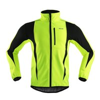 Wholesale ARSUXEO Men Sports Cycling Clothing Bike Bicycle Winter Coat Jersey Long Sleeve Jacket