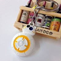 bb holders - DHL star wars keychains toys Force awakening BB Robot alloy keychains keyring with package card E449