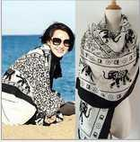 beach sarong pattern - Fashion Designer Blank Elephant Pattern Big Scarves Clothing For Women Neck Warmer Scarf Accessories Ladies Sarong Beach Shawl Wrap Pashmina