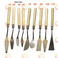 Wholesale Small Steel Painting Knife Set on a budget Students Palette Knives in different blade shapes Fine Art Knife Set