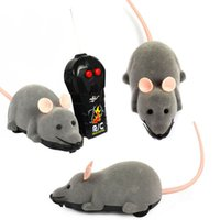 Wholesale 2014 new arrivel New Scary R C Simulation Plush Mouse Mice With Remote Controller Kids Toy Gift Gray