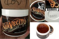 Wholesale 2016Suavecito Pomade Gel oz Strong Style Restoring Ancient Ways is Big Skeleton Hair Slicked Back Hair Oil Wax Mud