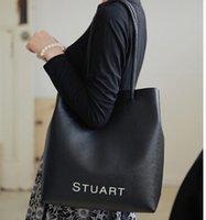 Cheap Drawstring portable handbag Best Women Plain shoulder bag