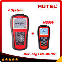 For Audi audi md - 2015 AUTEL MaxiDiag Elite MD702 System DS Model OBDII Code Reader MD system for Europe Vehicles MS509 As Gift