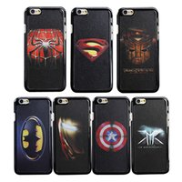 best superman covers - For iphone Plus Avengers leather skin texture Cases Cover for iphone plus s s Captain Batman Spider Iron Man Superman Captain best